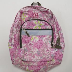 LL Bean Backpack Pink With Flowers Original